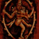 Batik Nataraja Painting Handmade Indian Hindu Deity Tribal Wall Decor Ethnic Art