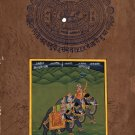 Rajasthani Miniature Painting Handmade Maharajah Riding Royal Elephant Artwork