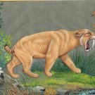 Saber Toothed Cat Tiger Painting Handmade Indian Pre Historic Wild Animal Art