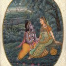 Krishna Radha Decor Art Handmade Contemporary Hindu Spiritual Miniature Painting