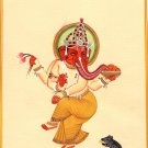 Lord Ganesha Painting Handmade Watercolor Indian God Ganesh Hindu Religion Art