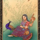 Ragini Ragamala Painting Indian Rajasthan Miniature Handmade Folk Art of Music