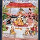 Sikh Guru Nanak Kirtan Painting Handmade Sikhism First Guru Religious Punjab Art