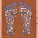 Vishnu Pada Footprint Tantrik Painting Indian Hindu Handmade Tantric Foot Art