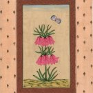 Mughal Miniature Art Handmade Floral Flower Moghul Indian Ethnic Folk Painting