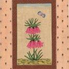 Mughal Miniature Art Handmade Floral Flower Moghul Indian Ethnic Folk Painting