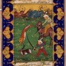 Persian Painting Illuminated Manuscript Indo Islamic Calligraphy Miniature Art