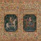 Mughal Miniature Painting Handmade Illuminated Manuscript Mogul Portrait Art