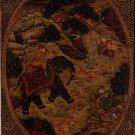 Indian Mughal Dynasty Miniature Painting Handmade Moghul Empire Royal Hunt Art