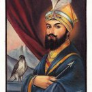 Guru Gobind Singh Sikh Painting Handmade Punjab Religion Oil Canvas Art