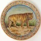 Indian Rajasthani Jaipur Marble Plate Art Handmade Bengal Tiger Motif Painting