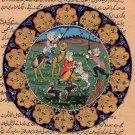 Persian Miniature Painting Handmade Illuminated Manuscript Muslim Islamic Art
