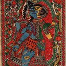 Madhubani Ardhanarishvara Painting Handmade Indian Tribal Mithila Bihar Folk Art