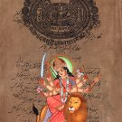 Durga Ma Devi Hindu Goddess Handmade Artwork India Spiritual Religion Painting