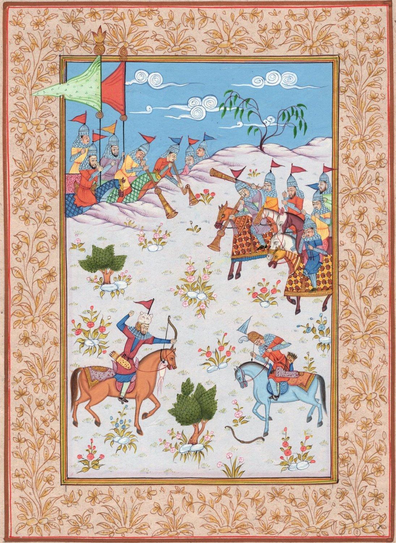 Persian Empire Miniature Art Handmade Indo Islamic Middle Eastern Folk Painting