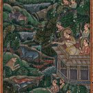 Mughal Empire Royal Hunt Art Handmade Moghul Miniature Indian Ethnic Painting