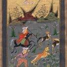 Persian Art Handmade Illuminated Manuscript Miniature Islamic Muslim Painting