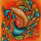 Kerala Mural Swan Painting Handmade South India Nature Bird Ethnic Miniature Art