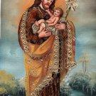 San Jose Nino Peruvian Cuzco Art Handmade Canvas Oil St. Joseph Christ Painting