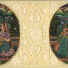 Mughal Dynasty Painting Handmade Watercolor Moghul Harem Indian Miniature Art