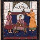 Mughal Painting Emperor Bahadur Shah Zafar Handmade Indian Miniature Moghul Art