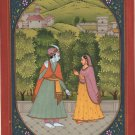 Krishna Radha Baramasa Art Handmade Classical Indian Miniature Folk Painting