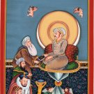 Mughal Miniature Jahangir Painting Handmade Indian Moghul Dynasty Bichitr Art