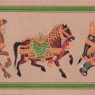 Indian Elephant Horse Camel Painting Handmade Rajasthani Animal Miniature Art