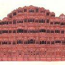 Hawa Mahal Painting Handmade Indian Rajasthani Jaipur Architecture Miniature Art