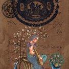 Rajasthan Indian Miniature Ragini Art Handmade Ethnic Folk Ragamala Painting