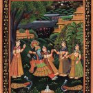 Krishna Radha Modern Decor Art Handmade Indian Hindu Religion Miniature Painting