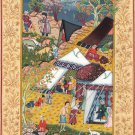 Persian Miniature Painting Khamsa of Nizami Mir Sayyid Ali Layala Majnun Art