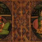 Indian Miniature Painting Handmade Antique Finish Mughal Emperor Portrait Art