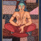 Lord Buddha Art Handmade Watercolor Siddharth Gautam Buddhist Indian Painting