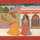 Rajasthani Kota Painting Handmade Indian Miniature Rajput Maharajah Folk Art