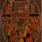 Imperial Mughal Painting Handmade Antique Finish Moghul Indian Durbar Court Art