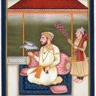 Sikh Guru Artwork Handmade Sikhism Religious Punjab Painting India Miniature Art