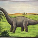 Apatosaurus Dinosaur Painting Handmade Canvas Oil India Wild Animal Ethnic Art