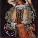 Musician Drum Angel Peruvian Cuzco Art Handmade Oil Canvas Folk Decor Painting