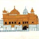 Golden Temple Painting Handmade Harmandir Sahib Sikh Gurdwara Monument Art