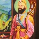 Sikh Art Handmade Guru Gobind Singh Oil on Canvas Indian Ethnic Punjab Painting