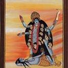 Kali Hindu Goddess Handmade Painting Divine Mother India Religion Spiritual Art