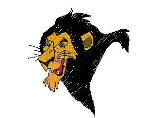 Lion King Scar Embroidery Design