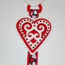 Bow Holder, lacy heart