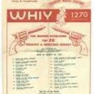 WHIY Florida   November 4, 1965- Tom Dole Country Show    1 CD