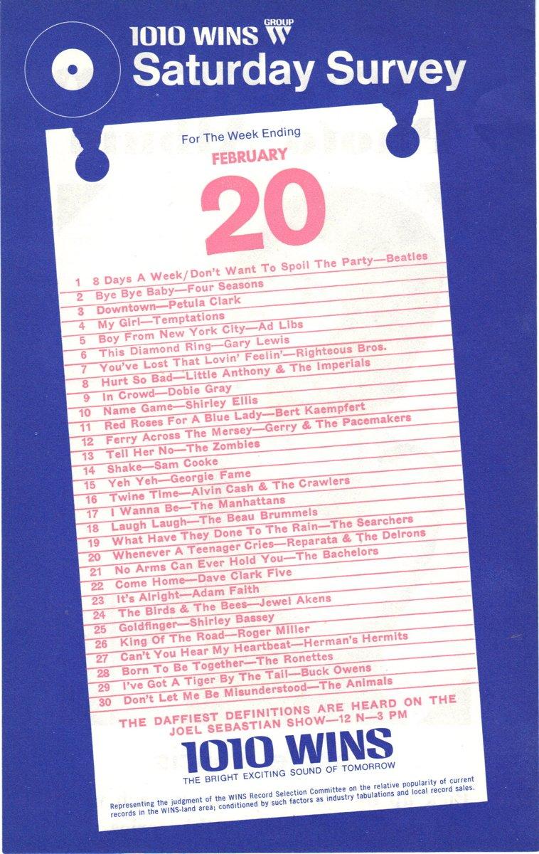 WINS  Paul Sherman  July 9, 1962      1 CD