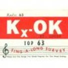 KXOK Roy Otis 8-6-63  1 CD