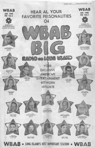 WBAB 1972 &  WLIR  Joe Bonnadonna  12/76  1 CD