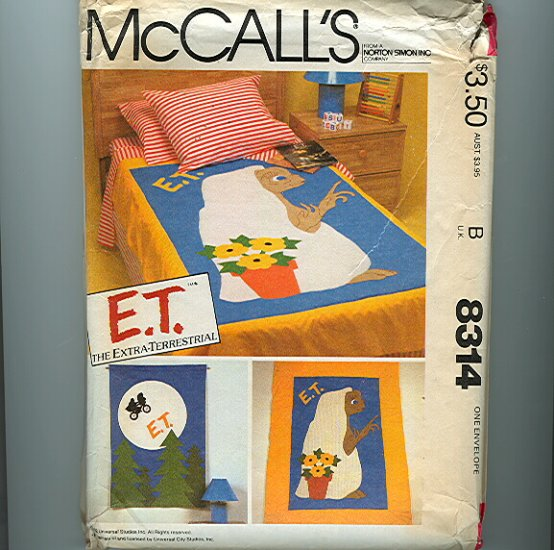Vintage ET Quilt Wallhanging Sewing Pattern UNCUT McCalls 8314