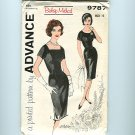 Mad Men Vintage Sewing Pattern Bombshell Sexy Wiggle Sheath Dress Advance B32 9787 UNCUT